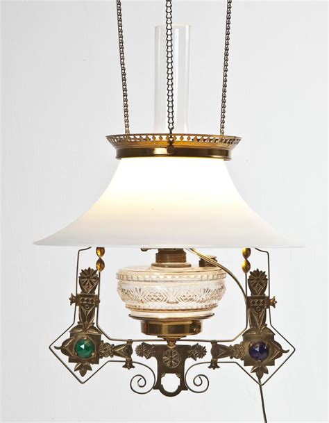 Counterweight Chandelier Aesthetic Movement Brass Hanging Lamp