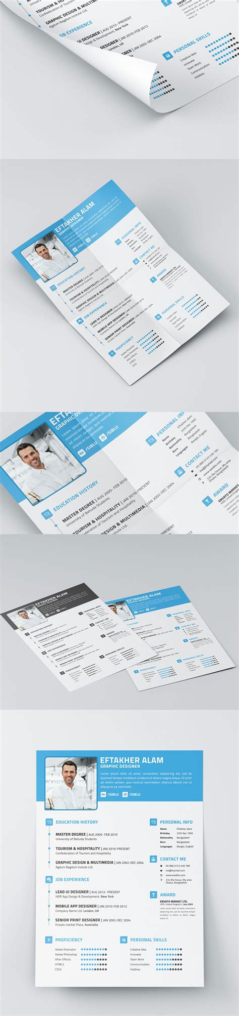 Free Indesign Business Card Template Behance by Free Resume Cv Business Card Templates On Behance