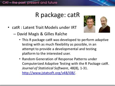 computerized adaptive and multistage testing with r using packages catr and mstr use r books a framework and approaches to develop an in house cat with