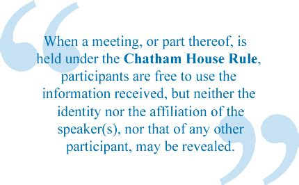 chatham house rules chatham house rule european defence conference 2012