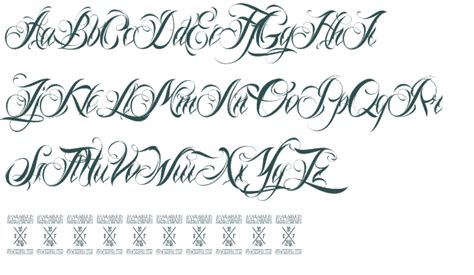 flower fonts script meaningful