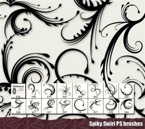 pattern photoshop brush 35 swirl and ribbon photoshop brushes
