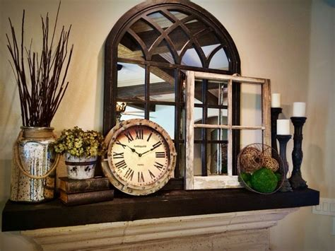 Kitchen Mantel Decorating Ideas by Best 20 Rustic Fireplace Decor Ideas On Pinterest Stone