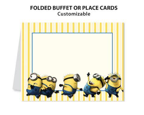 minion card template despicable me 2 minions printable diy custom place card