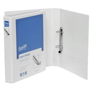 Insert Ring Binder 2 D A4 25 Mm 8522 07 Bantex bantex a4 2 d ring 25mm push lever insert binder white officeworks