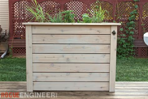 Deck Planters For Privacy by Privacy Planter Free Diy Plans Rogue Engineer