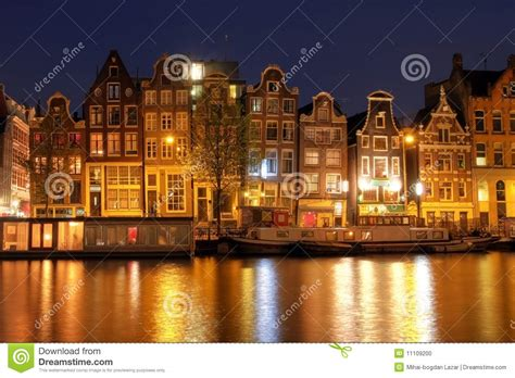amsterdam waterfront houses  netherlands stock photo