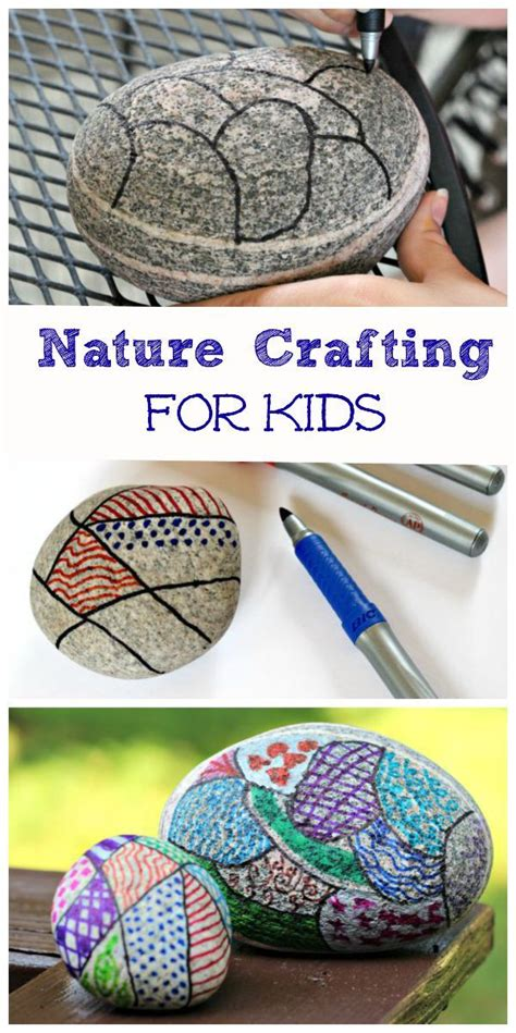 easy nature crafts for easy nature craft for zentangle rocks markers