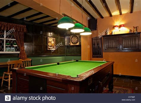 pub room the mansfield pub room with pool table and darts stock photo royalty free image