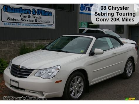 chrysler car white 2008 chrysler sebring touring convertible in stone white