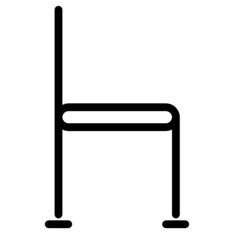 stuhl icon stuhl seite symbol kostenlos clean line set 2