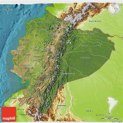 physical map of ecuador satellite 3d map of ecuador physical outside satellite sea