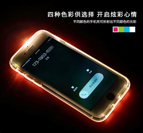 Bumper Led Light Casing Softcase Jelly Led Light rock 174 apple iphone 8 plus led light with flash alert soft silicon screen