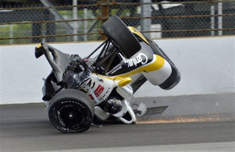 indy car crash josef newgarden crashes in indy 500 practice usa today sports