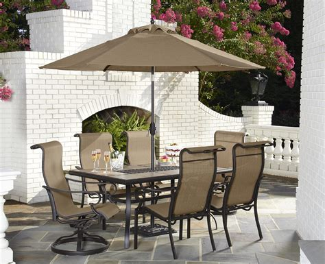 Shop Home Garden Jaclyn Smith Today Stegner Aluminum Smith Patio Table