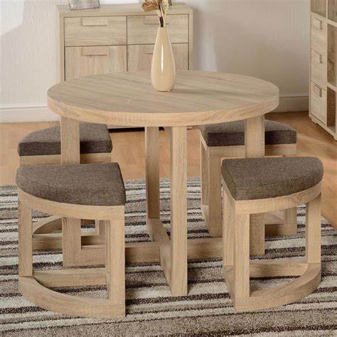 dining table set chairs pcs wooden oak finish  brown