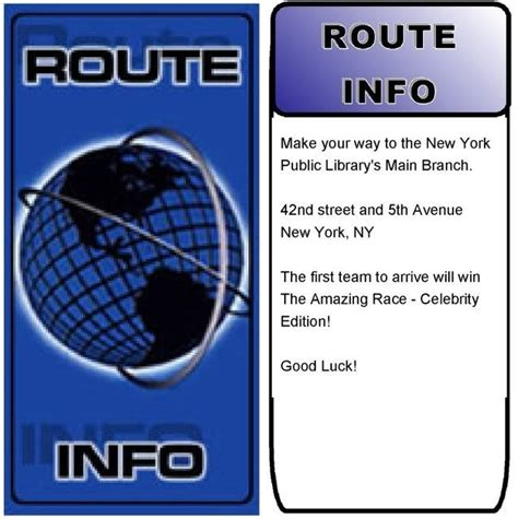 Amazing Race Route Info Template amazing race route info search the amazing race