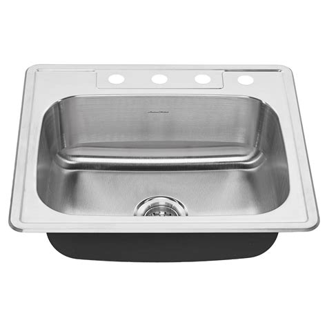 ada single bowl 25 inch 18 kitchen sink american