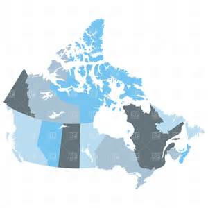 map of provinces canada vector image 1719 rfclipart