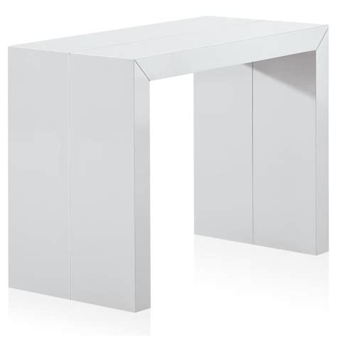 Console Extensible Pas Cher 3078 by Table Console Blanc Laque Achat Vente Table Console