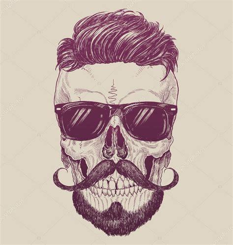 imagenes hipster art cranio di hipster con occhiali da sole hipster capelli e