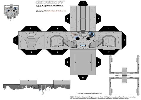 Dr Who Papercraft - cubee cyberman handles by cyberdrone on deviantart