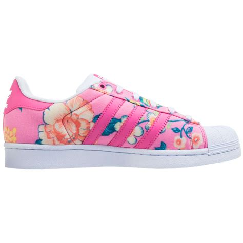 adidas originals superstar womens trainers flower print pink multi new shoes ebay