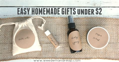 easy homemade gifts under 2