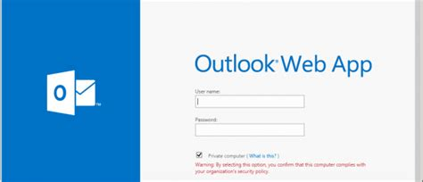 posta web configurazione posta outlook web access