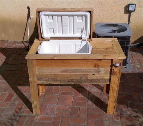 Old Kitchen Cabinets Ideas by Diy Pallet Cooler Stand Ice Chest