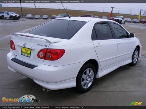 Toyota Corolla S 2008 2008 Toyota Corolla S White Charcoal Photo 6