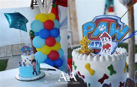 pastel decorado bonito pastel decorado con la tematica de paw patrol patrulla