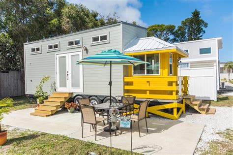 Small House For Rent Sarasota Yellow Lifeguard By Valley Tiny Homes Tiny Living