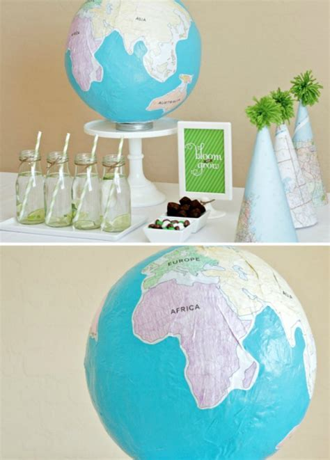 How To Make A Paper Globe - 14 craft ideas you can make with balloons creators