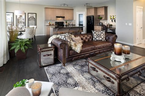 Living Rooms With Brown Couches brown leather sofa living room eclectic with black frames