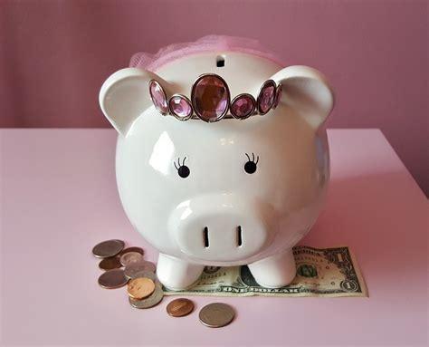 pink piggy bank with money free photo piggy bank pig piggy pink free image on