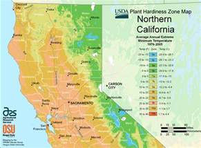 northern california plant hardiness growing zones info