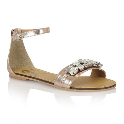 golden sandals buy ravel tulsa flat sandals in gold leather