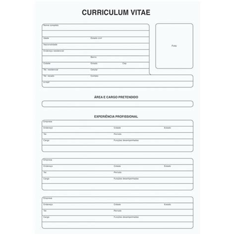 Modelo Curriculum Vitae Gratis Para Imprimir Curriculum Vitae Tilibra