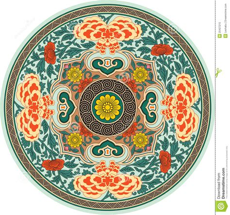 traditional pattern photography chinese traditional pattern rosette stock vector image