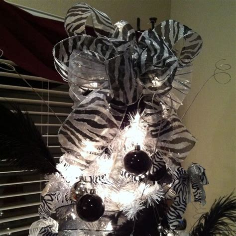 zebra christmas tree decorations christmas decorating