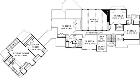 Luxury With Separate Guest House 17526lv 1st Floor House Plans Detached Guest Suite
