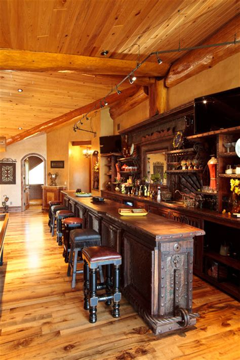 Small Rustic Home Bar Awesome Log Cabin Rustic Home Bar Dallas By