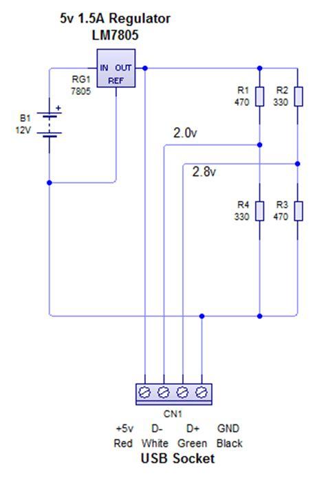 regulator smoothing capacitor gt circuits gt lm7805 5v regulator for usb phone charging l34361 next gr