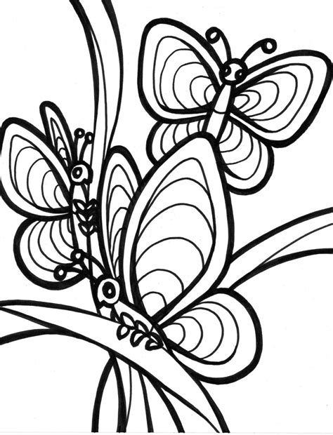 Butterfly Coloring Pictures