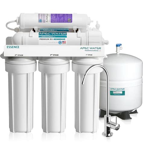 Apec Water Systems Essence Premium Quality 75 Gpd Ph Water Filtration System For Kitchen Sink