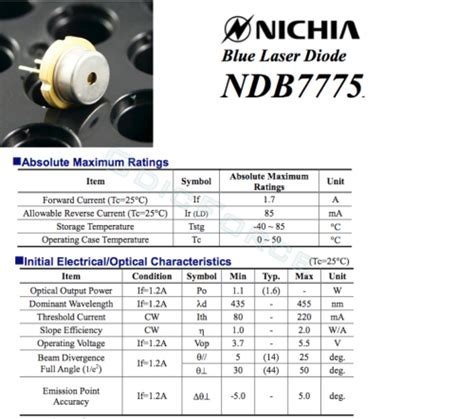 laser diodes price list nichia 1 6w 450nm blue laser diode 9mm ndb7775 ndb7875 new with tinned pins odicforce