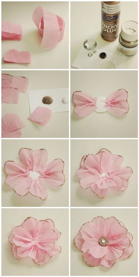 paper ribbon flower tutorial diy flower gift bow pictures photos and images for