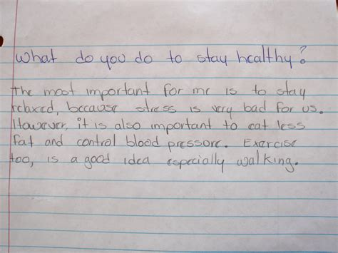 How To Stay Healthy Essay by Student Work Language