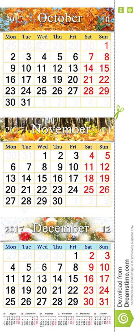 Calendrier Octobre Novembre D Cembre 2017 Calendrier Octobre Novembre Et D 233 Cembre 2017 Avec Les